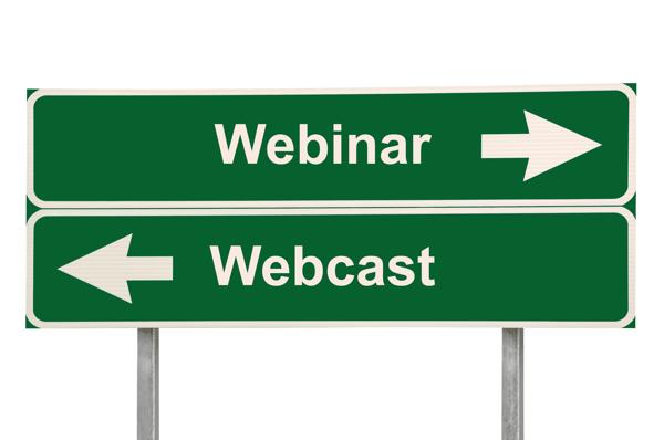 Webinar vs Webcast