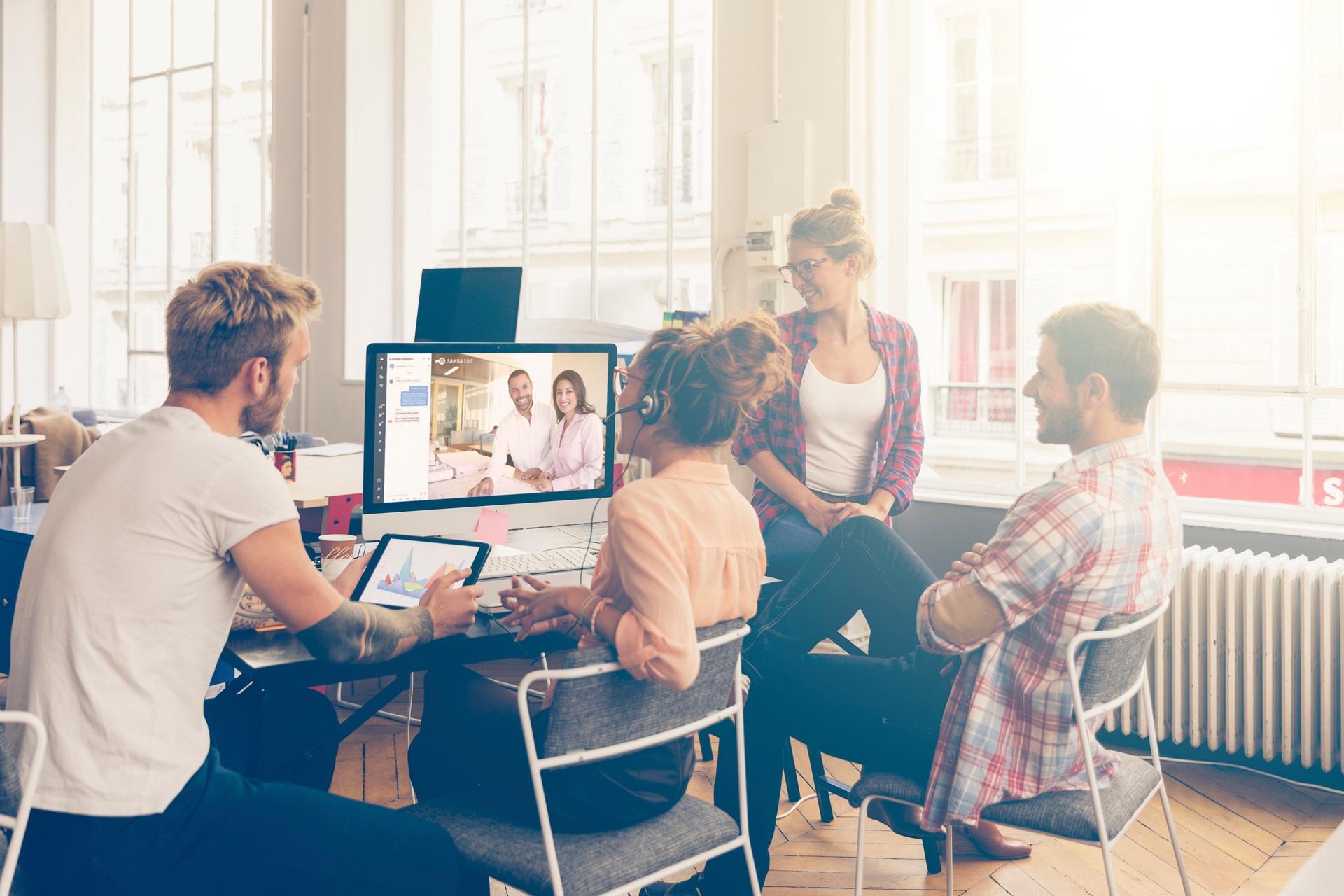 Team video conferencing