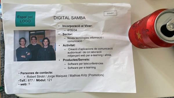 Digital Samba founders in 2004