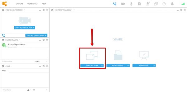 Screen sharing in OnSync