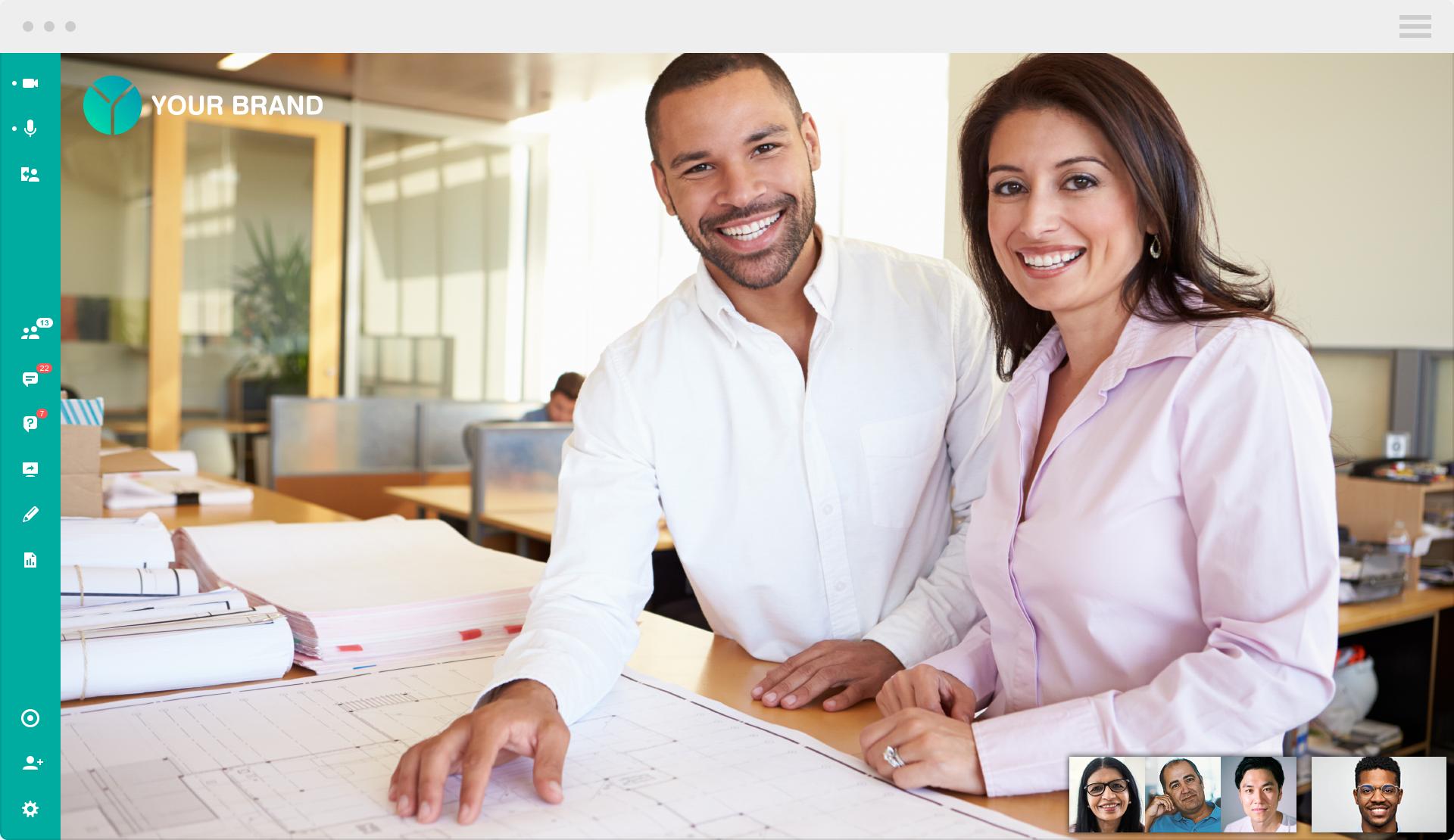 Rebrand your webinars and meetings