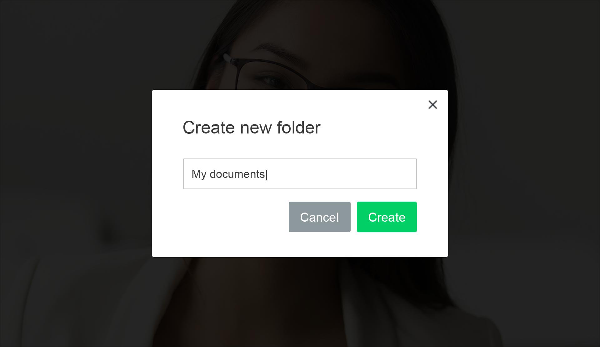 2. Create folders